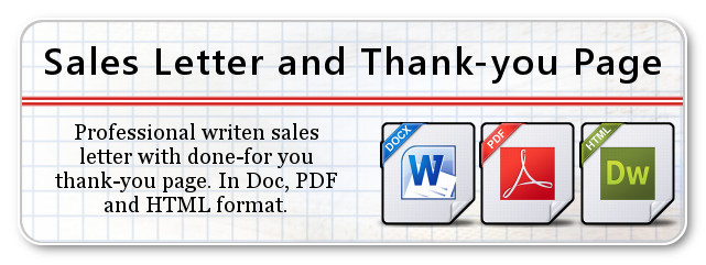 Sales Letter and Thank-you Page